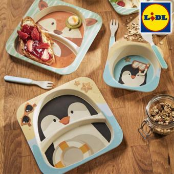 pinguin und fuchs Geschirr