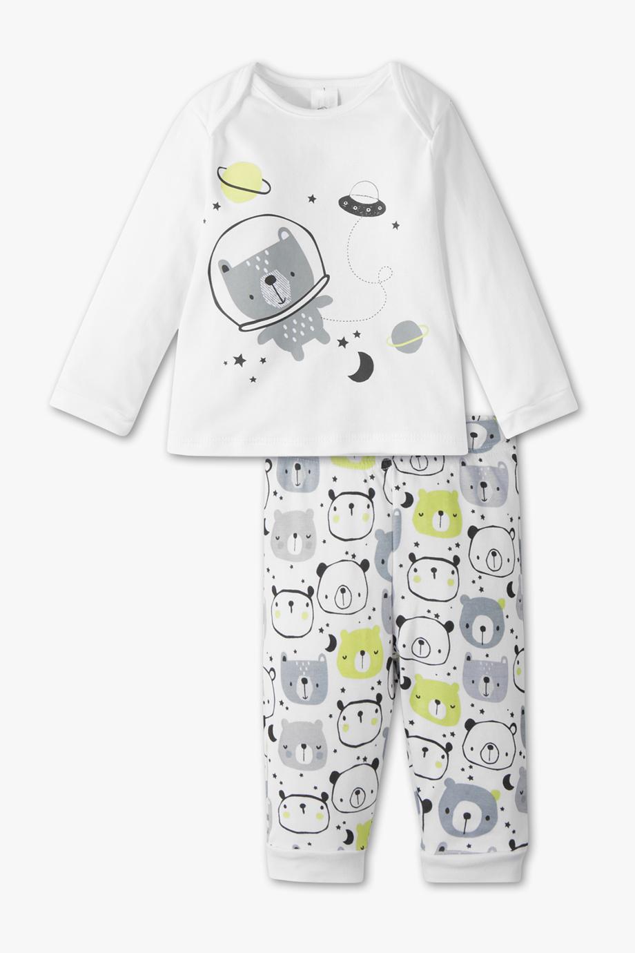 Schlafanzug in weiß