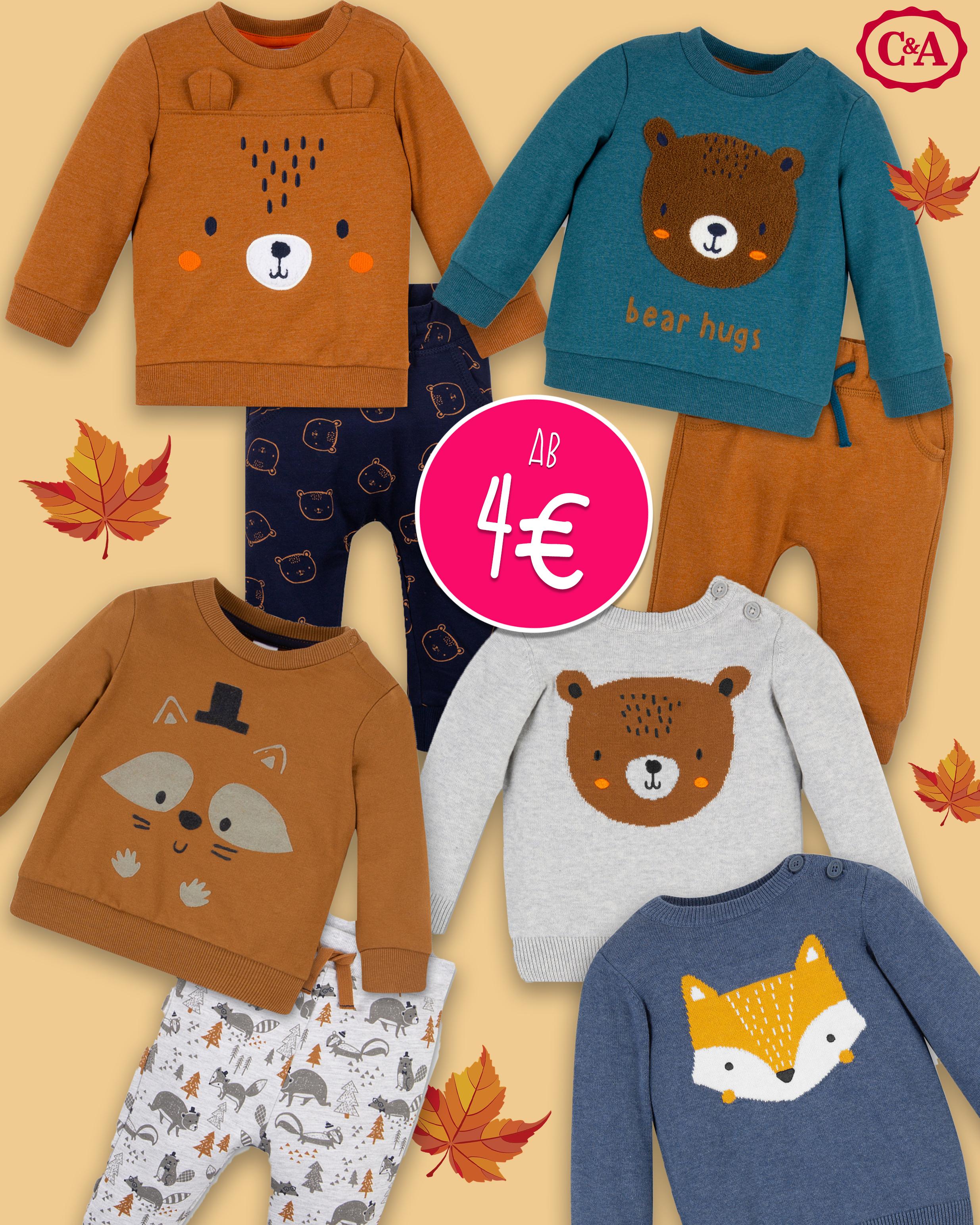 C&A Babymode mit Herbstprints