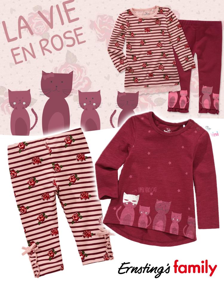 Babymode mit Rosenprints von Ernsting's Family