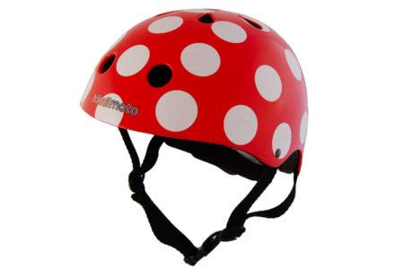 kiddimoto® Helm Design Sport, Pünktchen rot bei Babymarkt