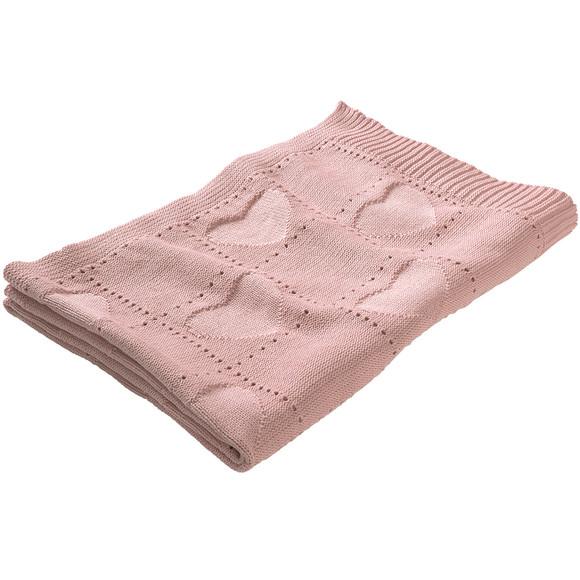rosa Strickdecke
