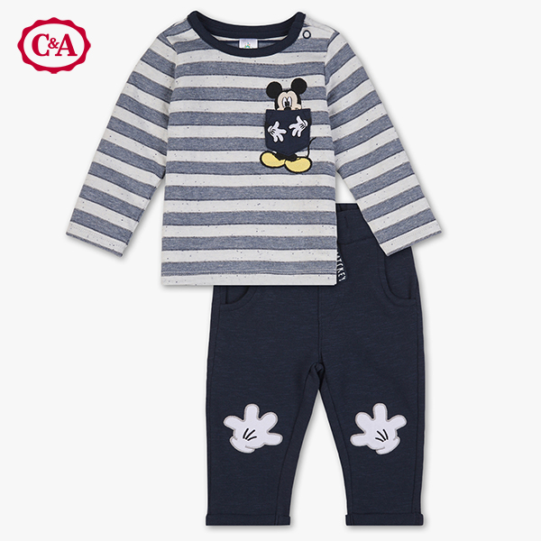 C&A Mickey Mouse Bekleidungsset in dunkelblau