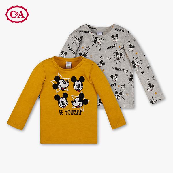 Mickey Mouse Sweatshirts für Kleinkinder in gelb und grau