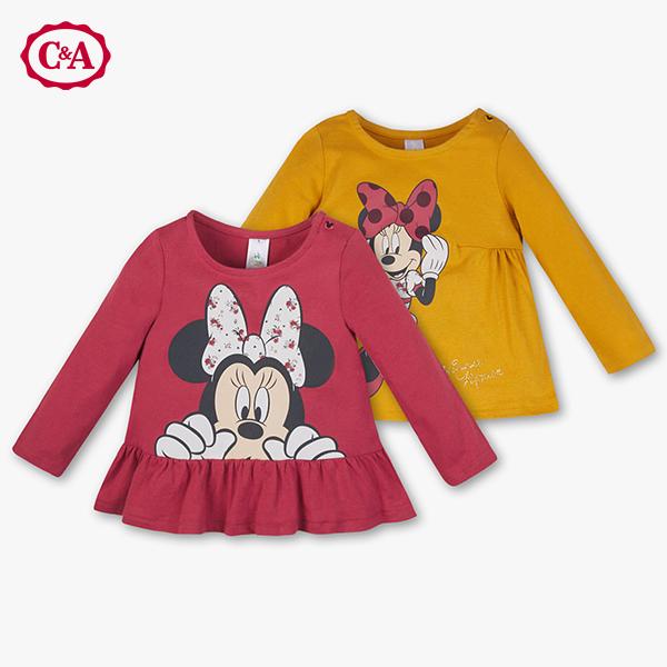 Minnie Mouse Shirts für Kleinkinder in rot und gelb