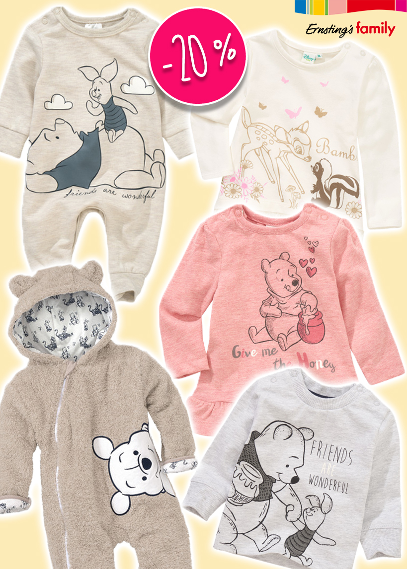 Babymode von Disney im Ernsting's Family Onlineshop