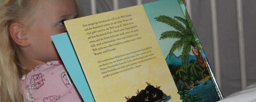 Banner: Die Schnecke und der Buckelwal
