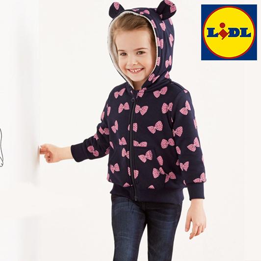 97d4af8ad86648 Mädchen mit pink blauer Kapuzenjacke von LIDL