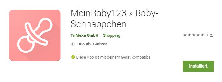 MeinBaby123 App im Appstore