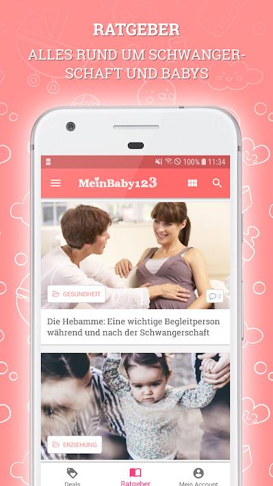 Ratgeber in der MeinBaby123 App