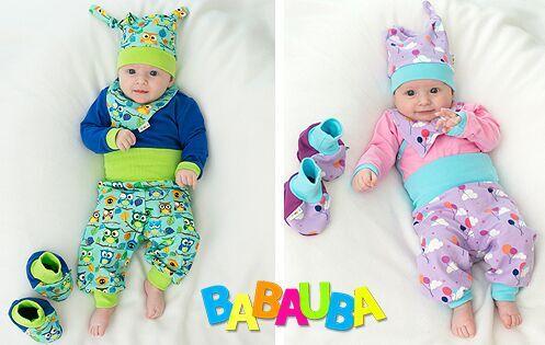 Babauba für Babys - bunte Outfits