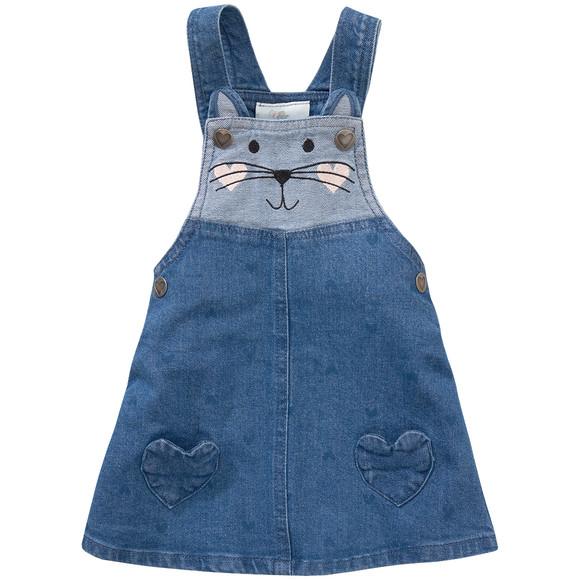 Katzenkleidchen aus Jeans für Kleinkinder