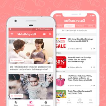 MeinBaby123-App für ios und android