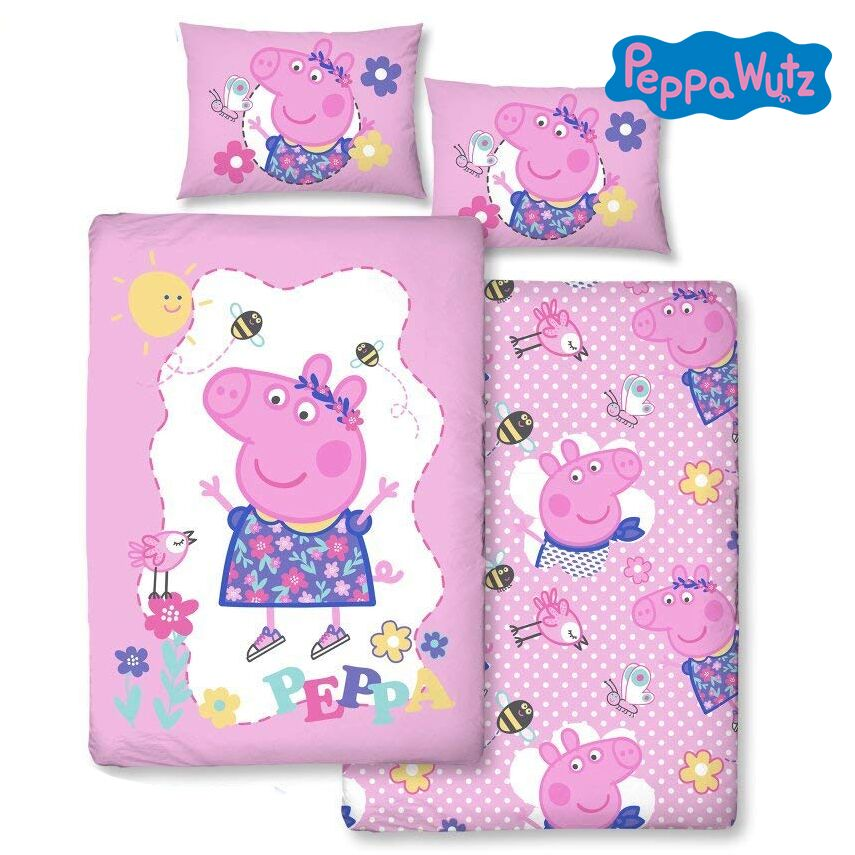 Peppa Wutz Bettwäsche in rosa