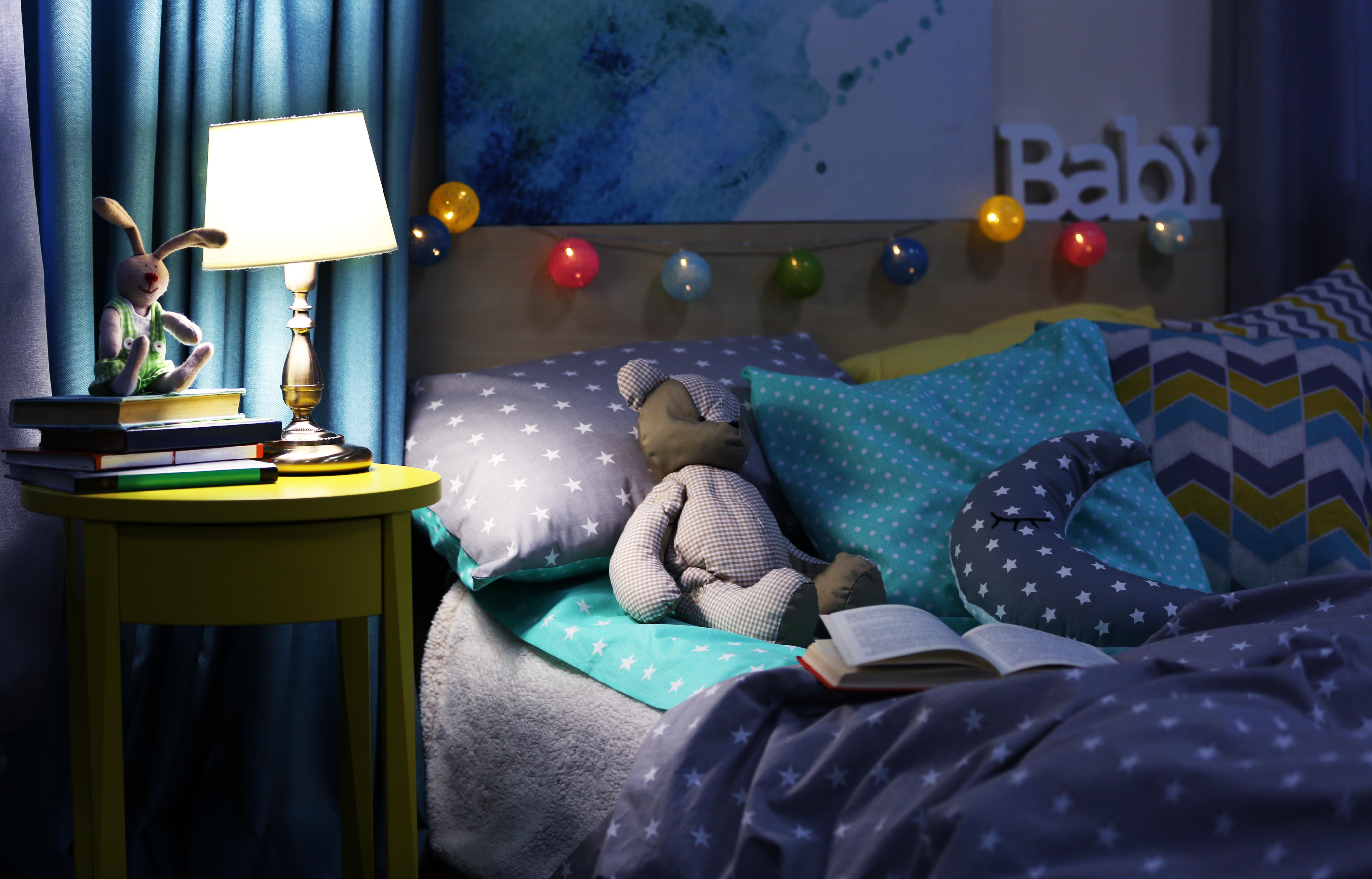 Kinderzimmer mit Nachtlicht