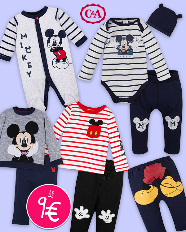Mickey Mouse Babykollektion bei C&A