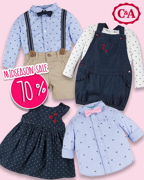 C&A Midseason Sale: Schicke Babymode