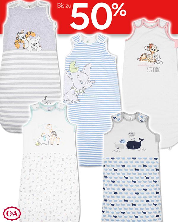 Baby-Sommerschlafsäcke mit verschiedenen Design von C&A