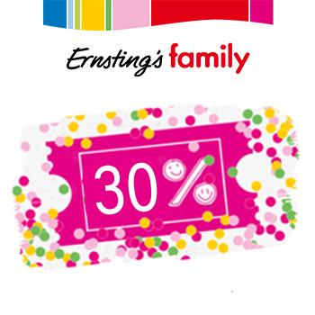 Ernstings Family 30% auf das nicht reduzierte Kindersortiment