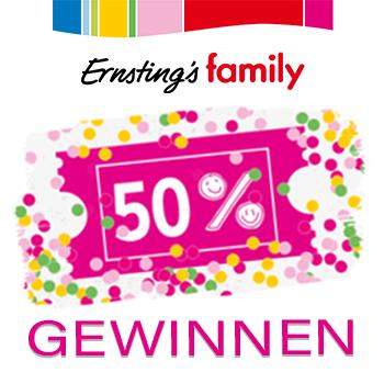 Ernsting's Family Gewinnspiel zum 50jährigem Jubiläum