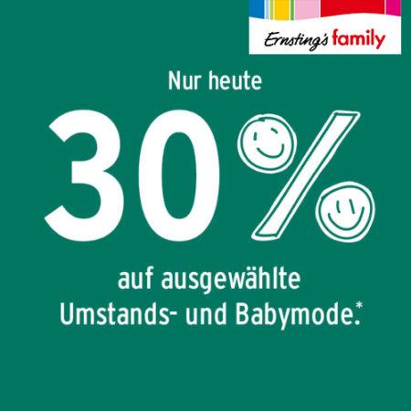 Ernsting's Family Rabattaktion Banner