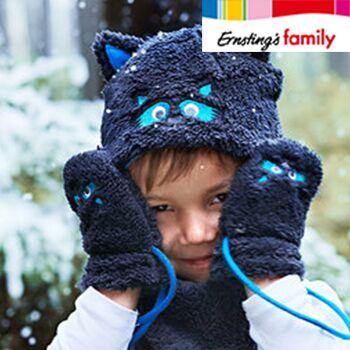 Schneemode Mütze und Handschuhe bei Ernsting's Family