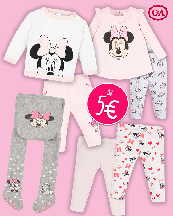 Zusammenstellung von Minnie Maus Kleidung
