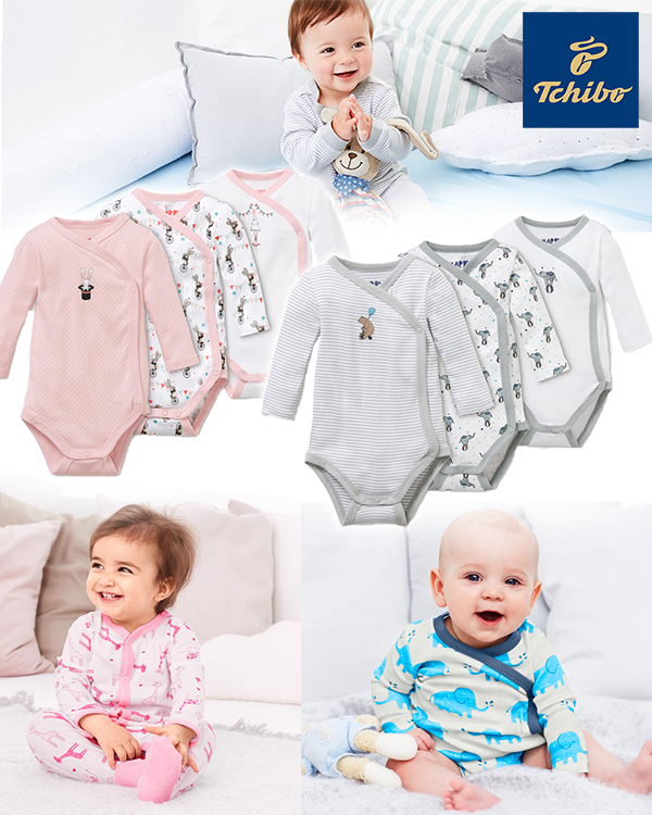 Zusammenstellung von Babys mit Wickelbody