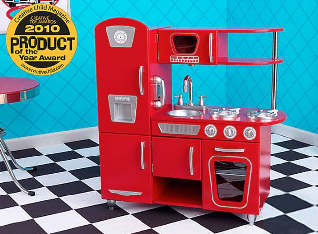 rote 50er Jahre Spieleküche