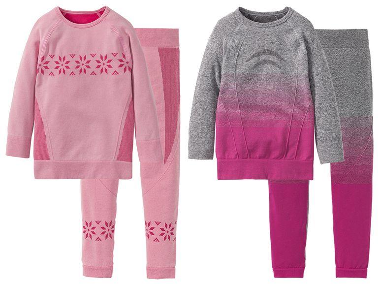 Thermounterwäsche in rosa grau