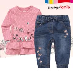 jeans hose und rosa shirt