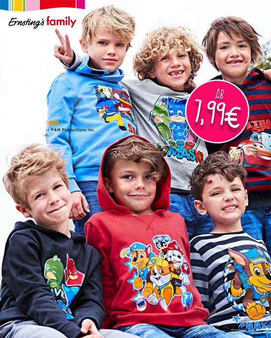 Kinder tragen Comic aufdrucke