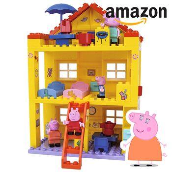 Peppa Wutz Spielhaus mit Amazonlogo
