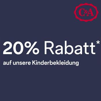 C&A 20% Rabatt auf Kinderbekleidung