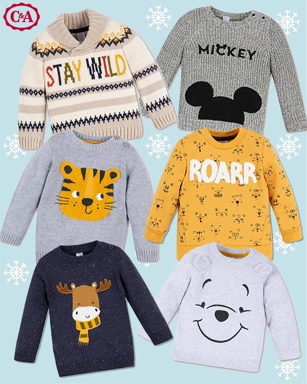 C&A Kinder-Pullover mit Winnie Pooh und Co