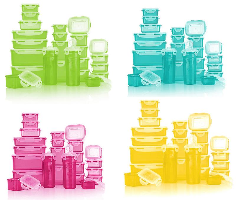Lila Frischhaltedosen Sets in verschiedenen Farben