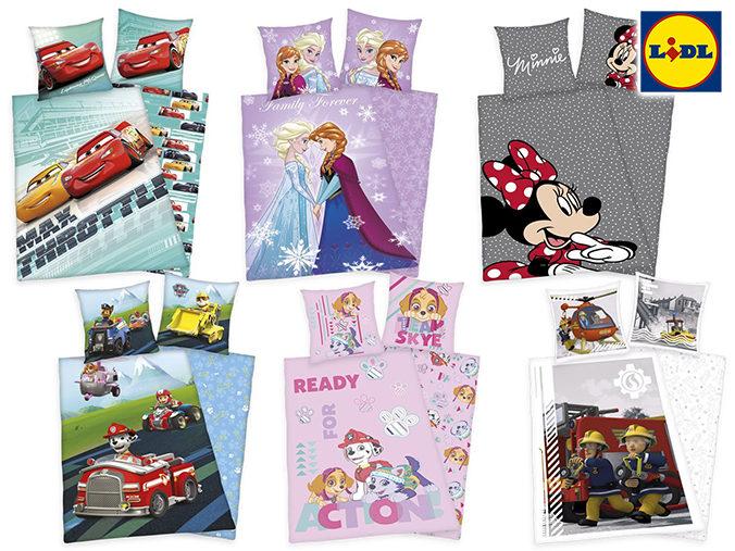LIDL Disneybettwäsche mit verschiedenen Designs