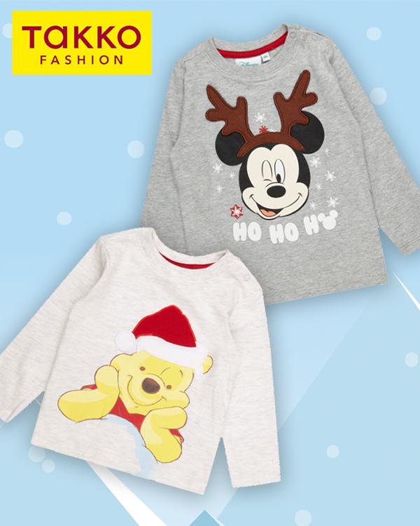 Takko Pullover mit Winnie und Mickey Mouse