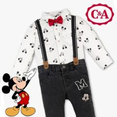 Micky Maus Jungen Outfit mit Fliege
