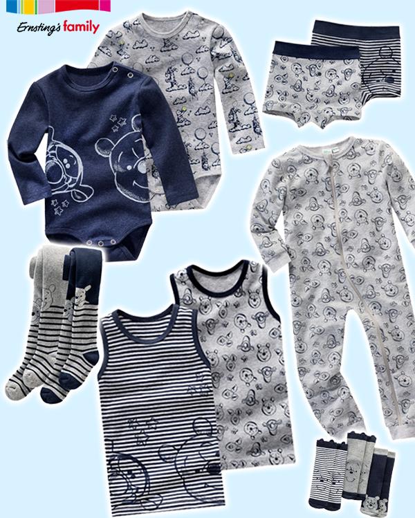 graue und blaue Jungenkollektion