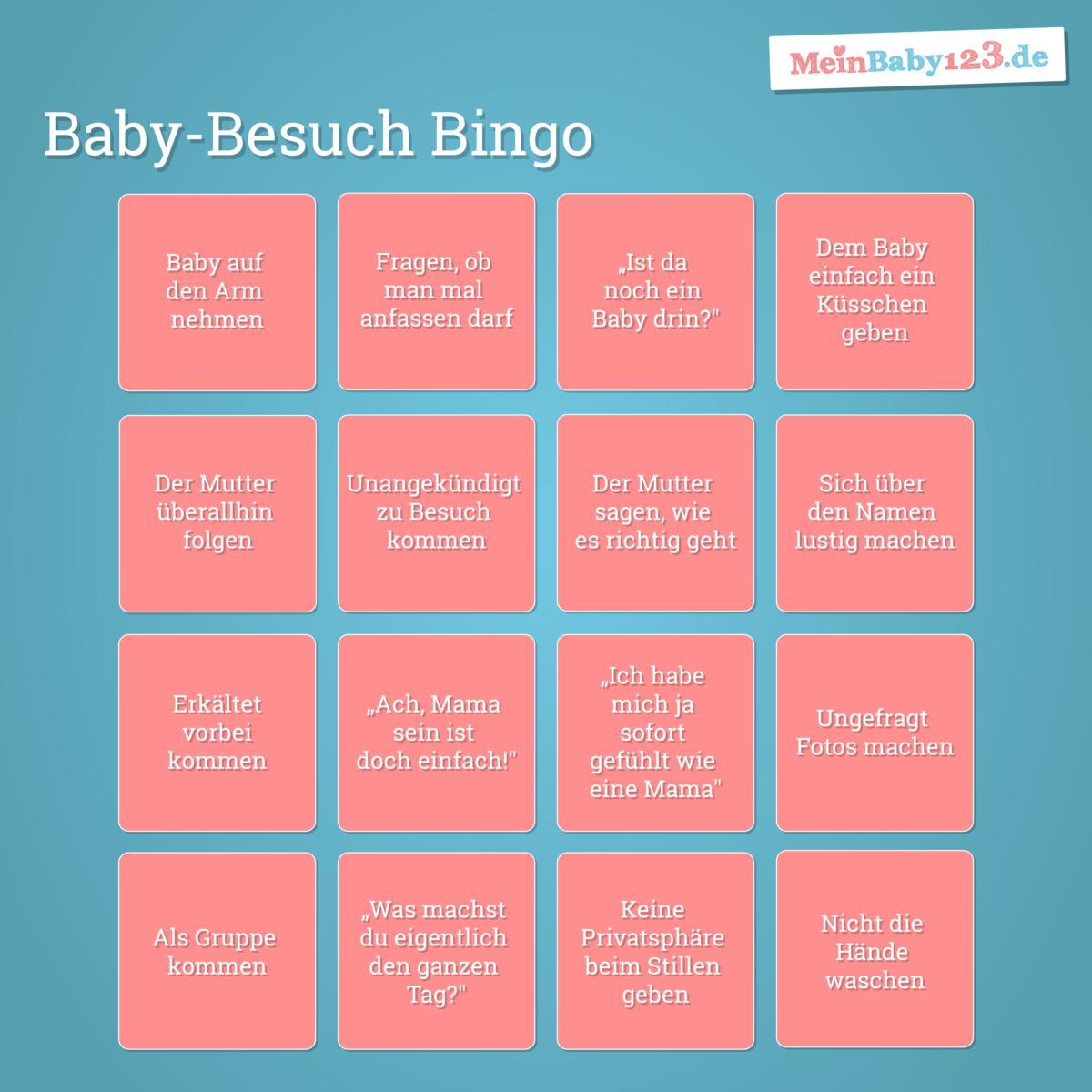 Babybesuch Bullshit Bingo