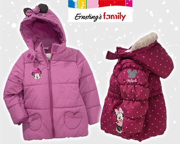 Minnie Maus Winterjacken in pink und rot