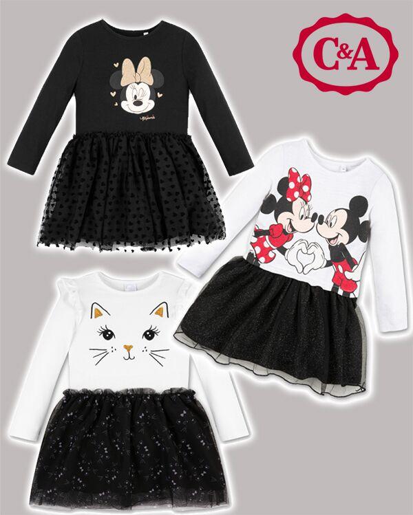 schwarz und weiße Mädchenkleider