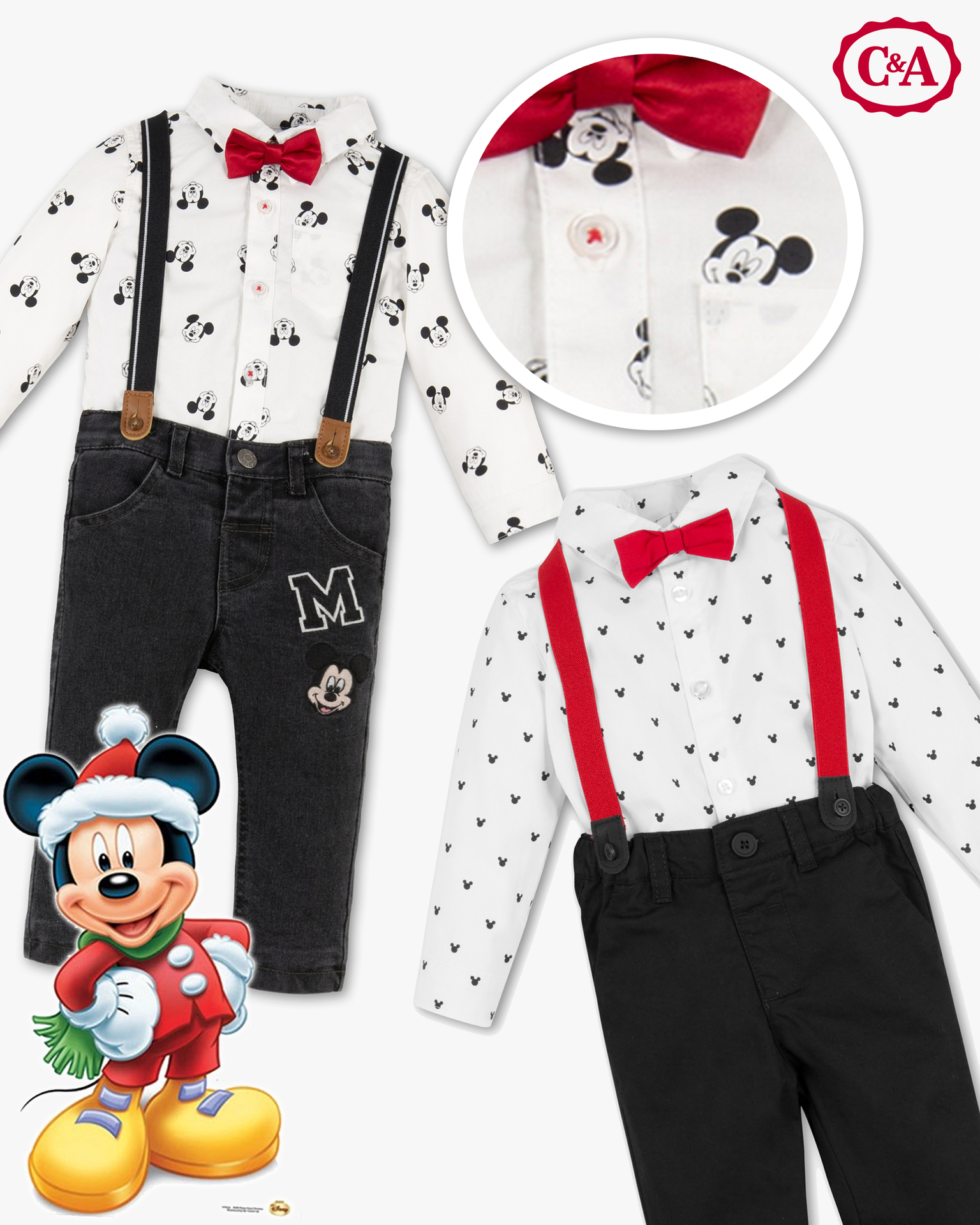 mehrfaches Micky Maus Outfit
