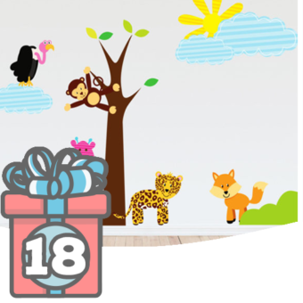 Wandsticker fürs Kinderzimmer mit Tieren