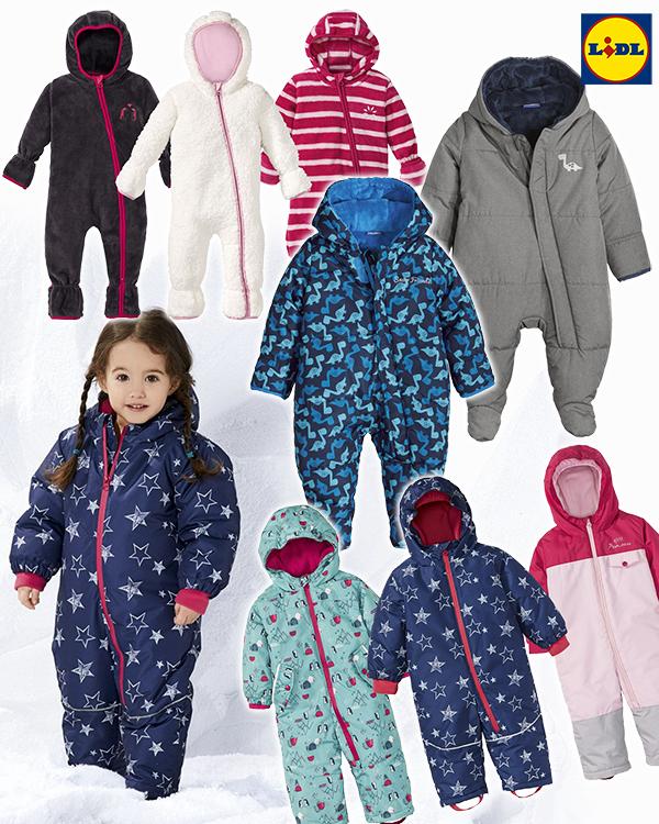 Kleinkinder Schneeoveralls von LIDL