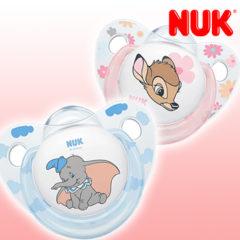 NUK Schnuller mit Bambi und Dumbo
