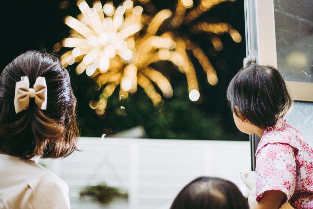 Silvester Feuerwerk von Drinnen