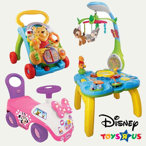 Disney spieltusch, lauflernwagen und rutscher