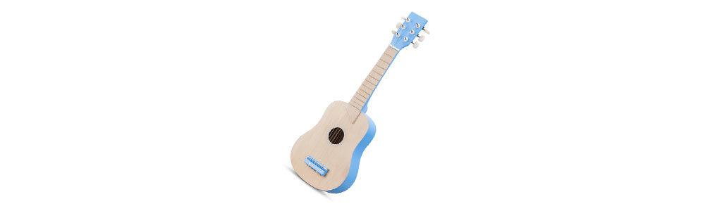 Holz Gitarre in blau für Kinder